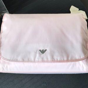 Giorgio Armani junior Baby diaper bag pink NWT!